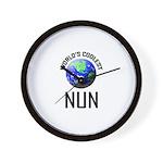 World's Coolest NUN Wall Clock