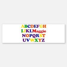 Maggie - Alphabet Bumper Bumper Bumper Sticker