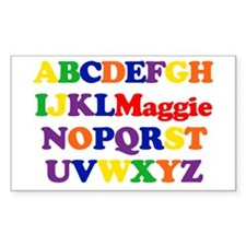 Maggie - Alphabet Rectangle Decal