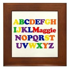Maggie - Alphabet Framed Tile