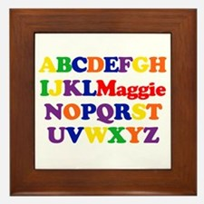 Maggie - Alphabet Framed Tile