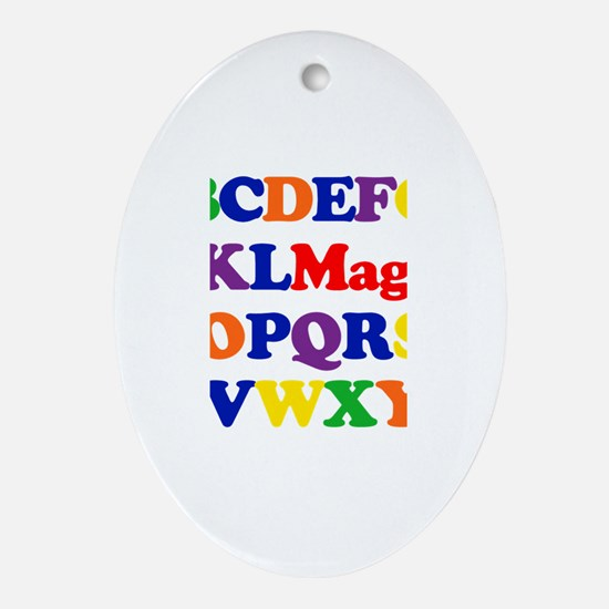 Maggie - Alphabet Oval Ornament