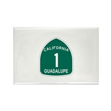 Guadalupe, California Highway Rectangle Magnet