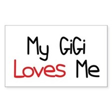 My GiGi Loves Me Rectangle Decal