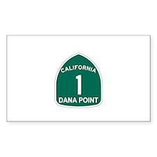 Dana Point, California Highwa Sticker (Rectangular