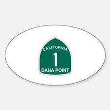 Dana Point, California Highwa Oval Decal