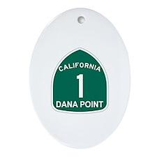 Dana Point, California Highwa Oval Ornament