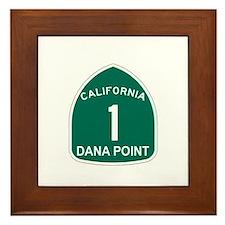 Dana Point, California Highwa Framed Tile