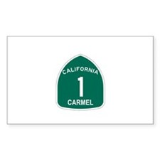 Carmel, California Highway 1 Rectangle Decal