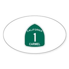 Carmel, California Highway 1 Oval Decal