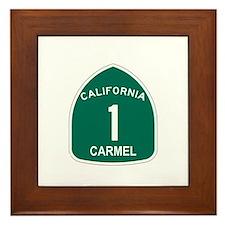 Carmel, California Highway 1 Framed Tile