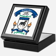 Rottie Coat Of Arms Keepsake Box