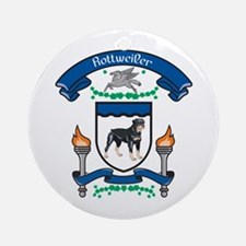 Rottie Coat Of Arms Ornament (Round)