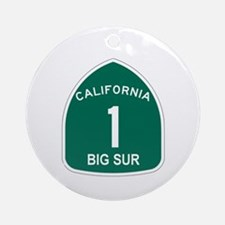Big Sur, California Highway 1 Ornament (Round)