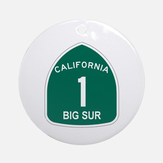 Big Sur, California Highway 1 Ornament (Round)