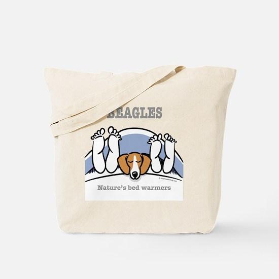 Beagle bed warmers Tote Bag