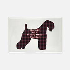 BFF Kerry Blue Terrier Rectangle Magnet (10 pack)