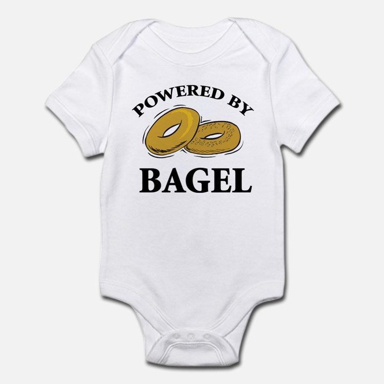 Powered By Bagel Infant Bodysuit