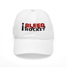 I Bleed Hockey Baseball Cap