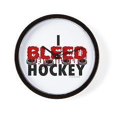 I Bleed Hockey Wall Clock