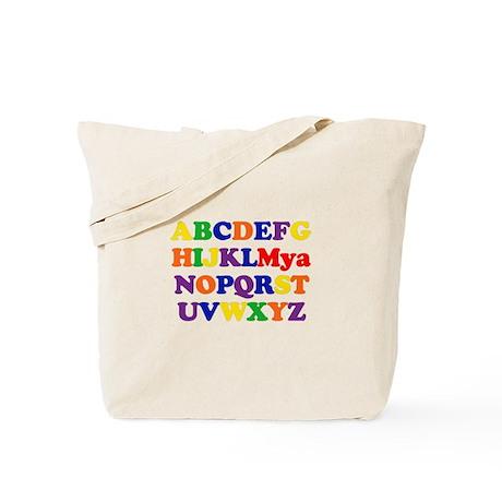Mya - Alphabet Tote Bag