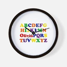 Olivia - Alphabet Wall Clock