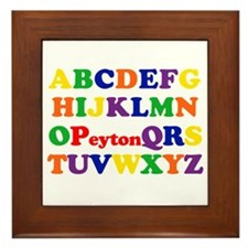 Peyton - Alphabet Framed Tile