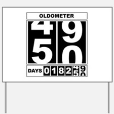 50th Birthday Oldometer Yard Sign