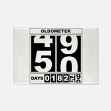 50th Birthday Oldometer Rectangle Magnet