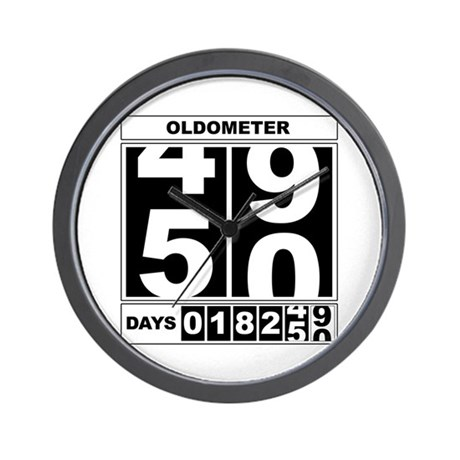 50th Birthday Oldometer Wall Clock