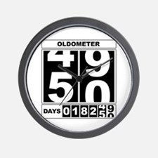 50th Birthday Oldometer Wall Clock