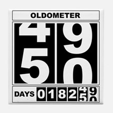 50th Birthday Oldometer Tile Coaster