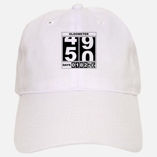 50th Birthday Oldometer Baseball Baseball Cap