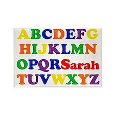 Sarah - Alphabet Rectangle Magnet