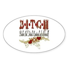 BITCH Oval Decal