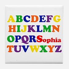 Sophia - Alphabet Tile Coaster