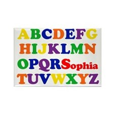 Sophia - Alphabet Rectangle Magnet