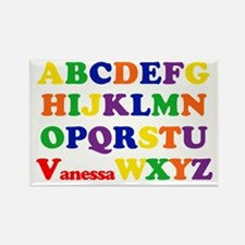 Vanessa - Alphabet Rectangle Magnet
