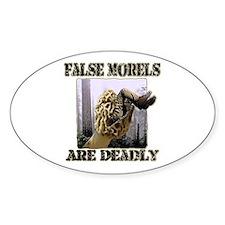 false morel mushroom Oval Decal