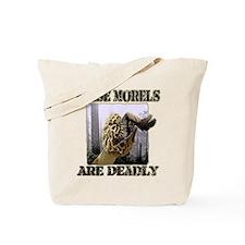 false morel mushroom Tote Bag