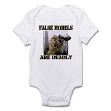 false morel mushroom Infant Bodysuit