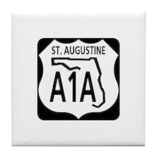 A1A St. Augustine Tile Coaster