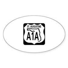 A1A St. Augustine Oval Decal