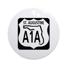 A1A St. Augustine Ornament (Round)