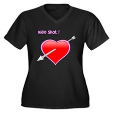 nice shot Women's Plus Size V-Neck Dark T-Shirt