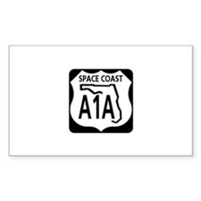 A1A Space Coast Rectangle Decal