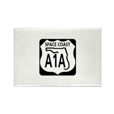 A1A Space Coast Rectangle Magnet