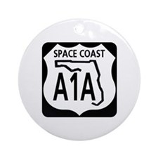 A1A Space Coast Ornament (Round)