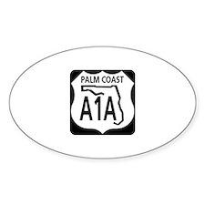 A1A Palm Coast Oval Decal