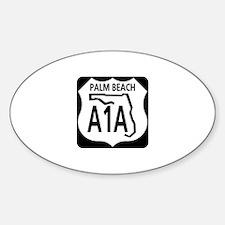 A1A Palm Beach Oval Decal